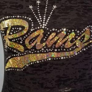 Los Angeles Rams rhinestone shirt bling bling